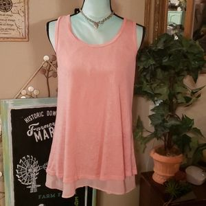 Chris & Carol Peach Colored Dress Tank Size Medium